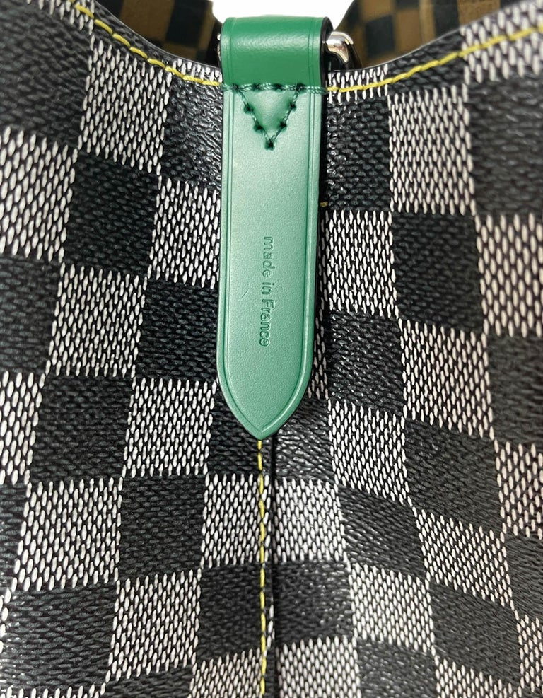 Louis Vuitton RARE Limited Edition Black & White Damier Canvas NeoNoe Bag For Sale 5