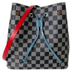 Louis Vuitton RARE Limited Edition Black & White Damier Canvas NeoNoe Bag