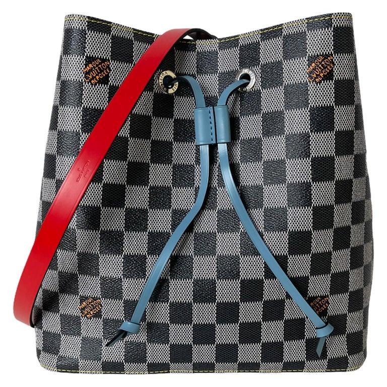 Louis Vuitton RARE Limited Edition Black & White Damier Canvas NeoNoe Bag For Sale
