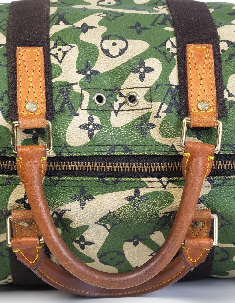 Louis Vuitton Rare Limited Edition Murakmi Monogramouflage Speedy 35 For Sale 2
