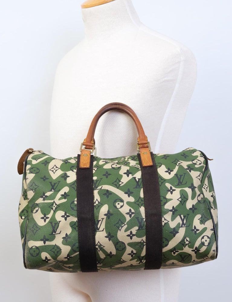 Louis Vuitton Rare Limited Edition Murakmi Monogramouflage Speedy 35 For Sale 4