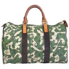 Louis Vuitton Rare Limited Edition Murakmi Monogramouflage Speedy 35