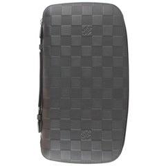 Louis Vuitton (Rare) Onyx Damier InfiniOrganizer 2lz1113 Black Wristlet