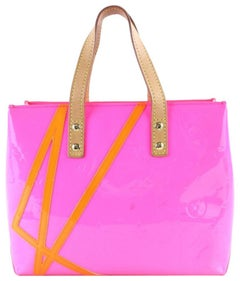 Louis Vuitton Reade Robert Wilson Pm 223740 Fluo Pink Vernis Patent Tote