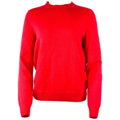 Louis Vuitton Red Cashmere Pullover Sweater Size S