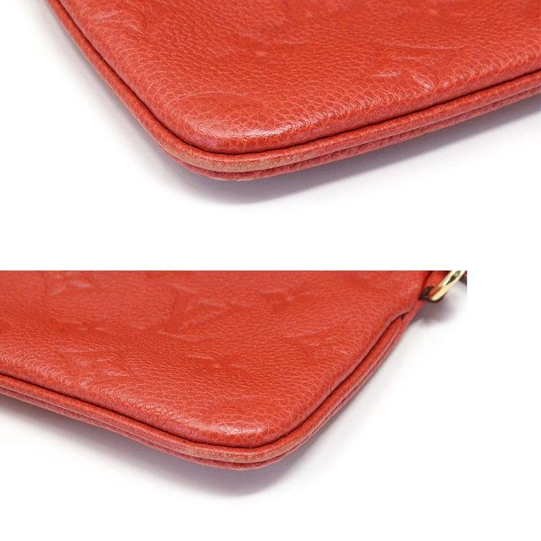 Louis Vuitton Red Empreinte Citadine PM Tote Bag w/ Attached Pochette For Sale 6