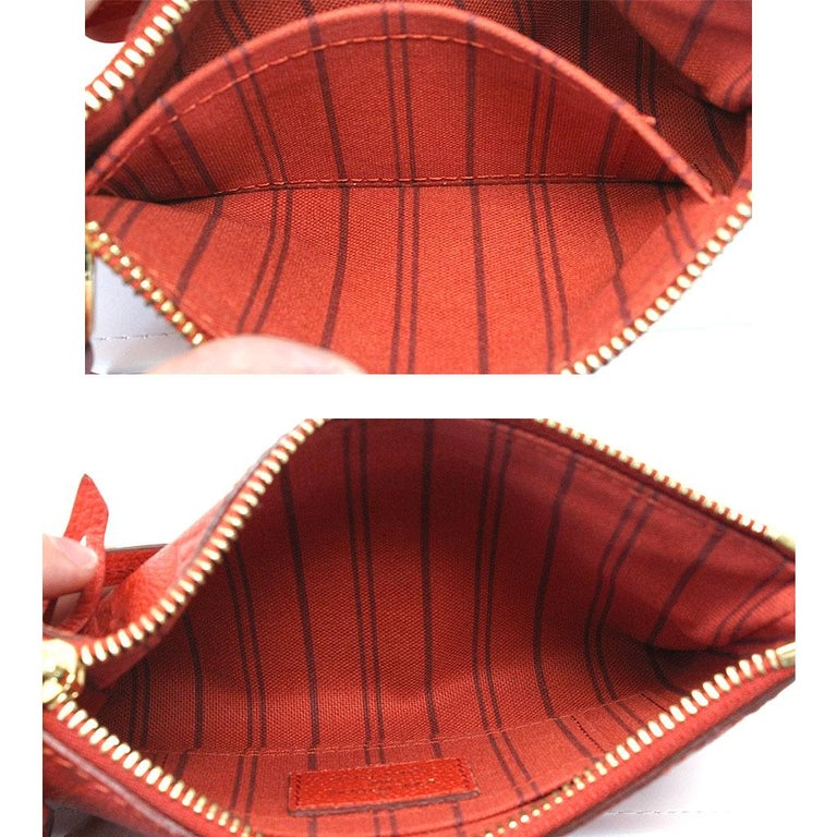 Louis Vuitton Red Empreinte Citadine PM Tote Bag w/ Attached Pochette For Sale 7