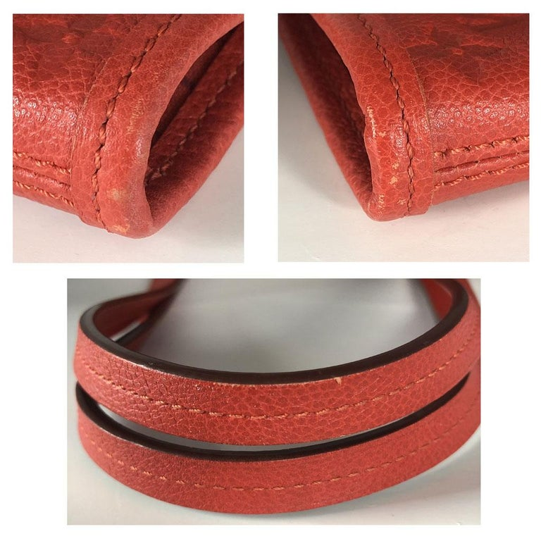 Louis Vuitton Red Empreinte Citadine PM Tote Bag w/ Attached Pochette For Sale 8