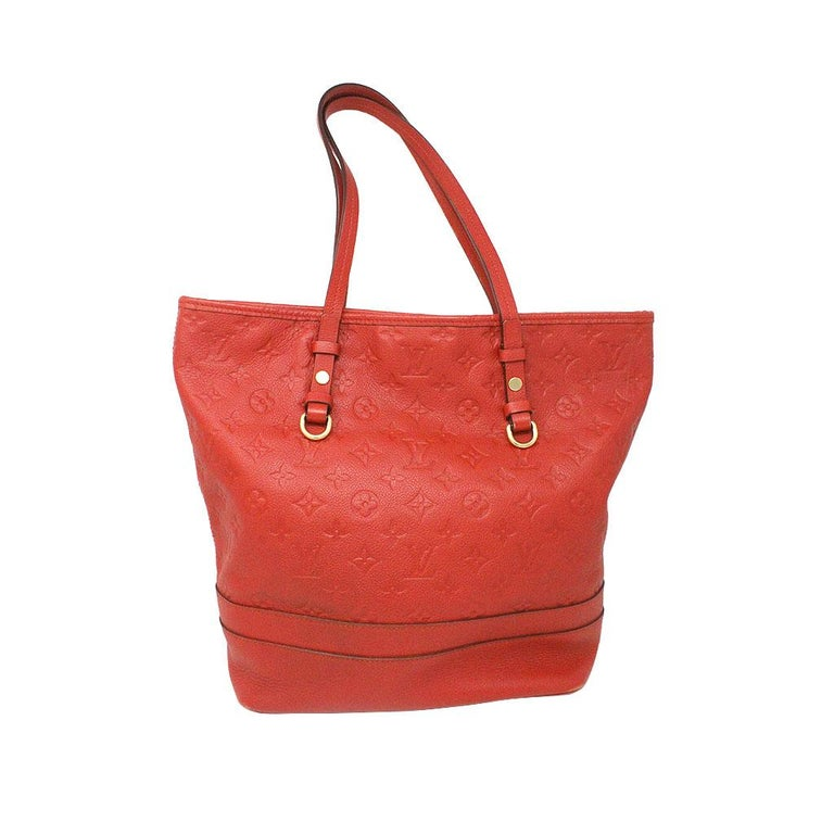 Brand: Louis Vuitton Style: Tote Bag Handles: Red Leather Shoulder Straps, Drop: 9