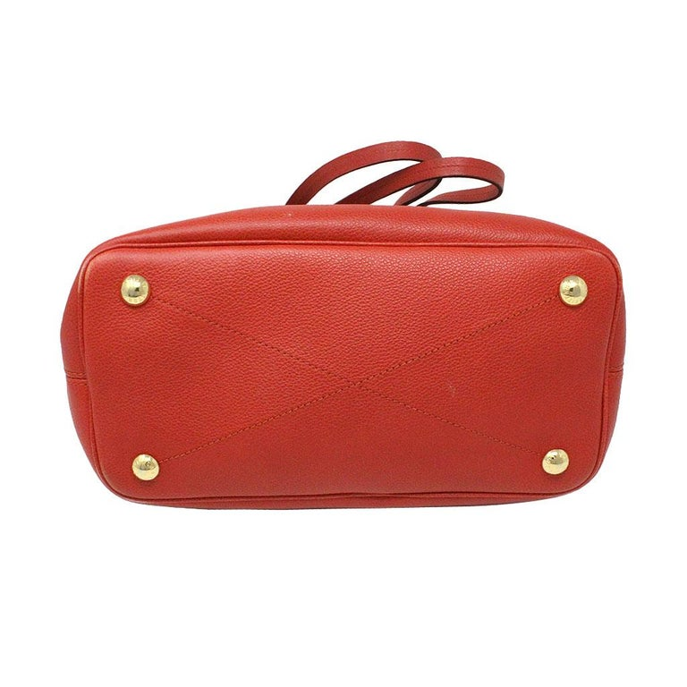 Women's or Men's Louis Vuitton Red Empreinte Citadine PM Tote Bag w/ Attached Pochette For Sale