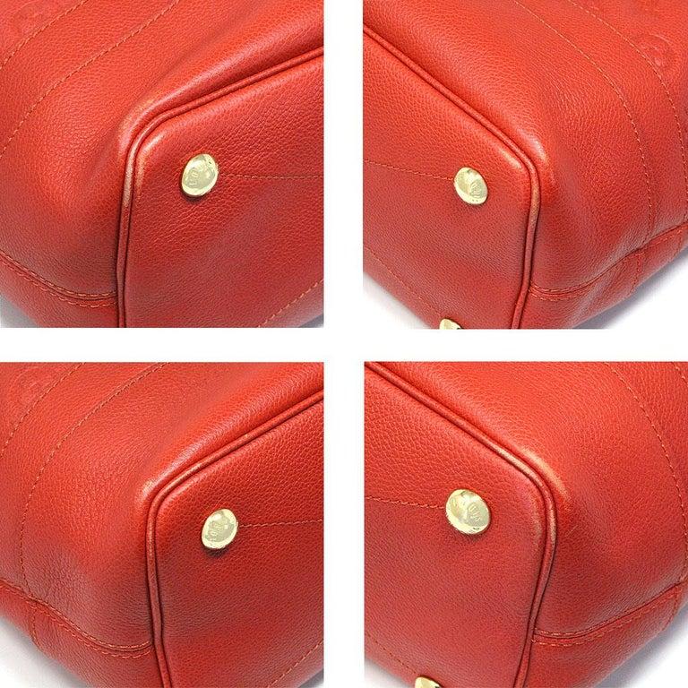 Louis Vuitton Red Empreinte Citadine PM Tote Bag w/ Attached Pochette For Sale 1