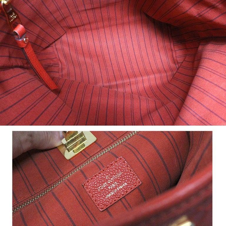 Louis Vuitton Red Empreinte Citadine PM Tote Bag w/ Attached Pochette For Sale 3