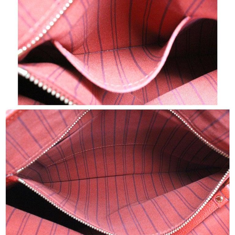 Louis Vuitton Red Empreinte Citadine PM Tote Bag w/ Attached Pochette For Sale 4