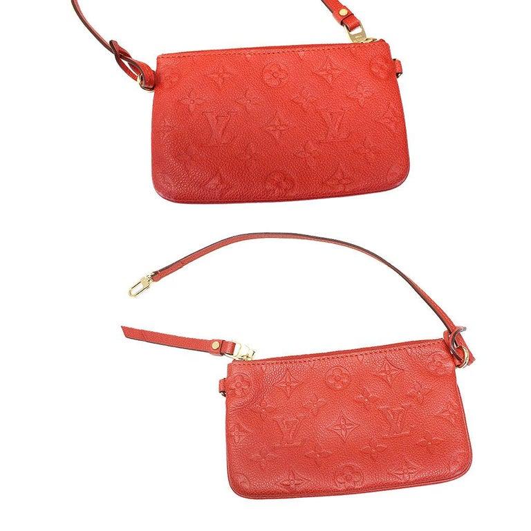 Louis Vuitton Red Empreinte Citadine PM Tote Bag w/ Attached Pochette For Sale 5