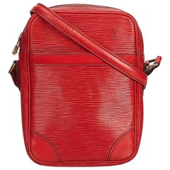Louis Vuitton Red Epi Danube