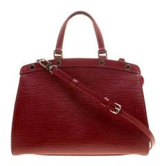 Louis Vuitton Red Epi Leather Brea MM Bag