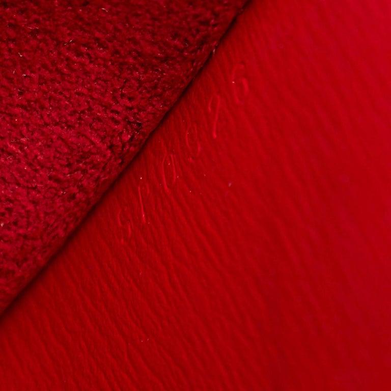 Louis Vuitton Red Epi Leather Cluny Shoulder Bag For Sale 4