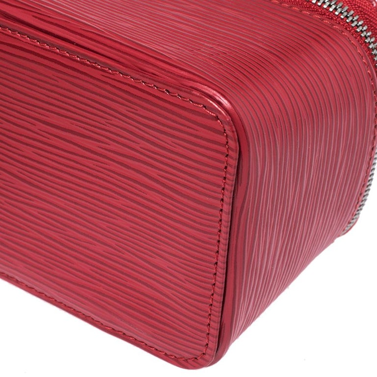 Women's Louis Vuitton Red Epi Leather Jewelry Box For Sale