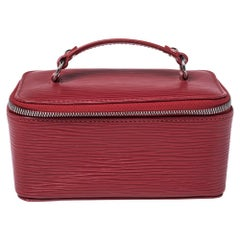 Louis Vuitton Red Epi Leather Jewelry Box