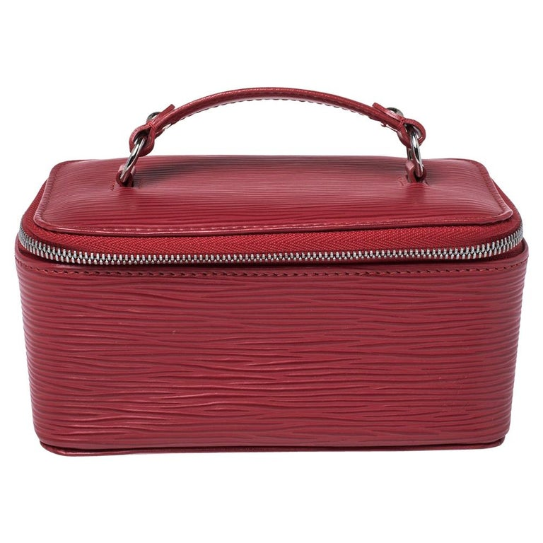 Louis Vuitton Red Epi Leather Jewelry Box For Sale