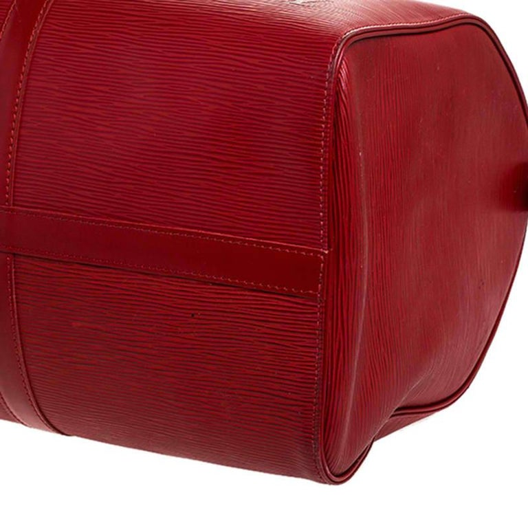 Louis Vuitton Red Epi Leather Keepall Bag 45 Bag For Sale 6