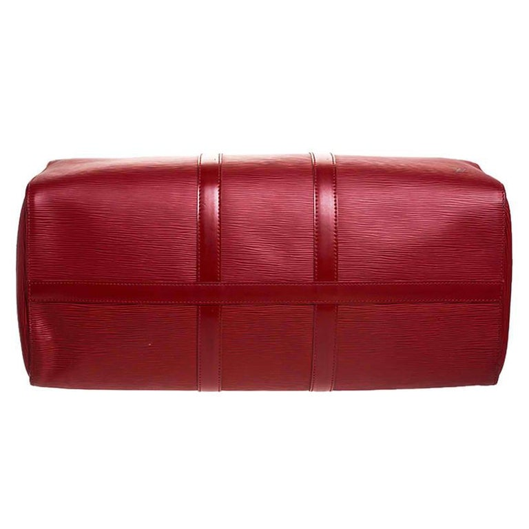 Louis Vuitton Red Epi Leather Keepall Bag 45 Bag For Sale 1