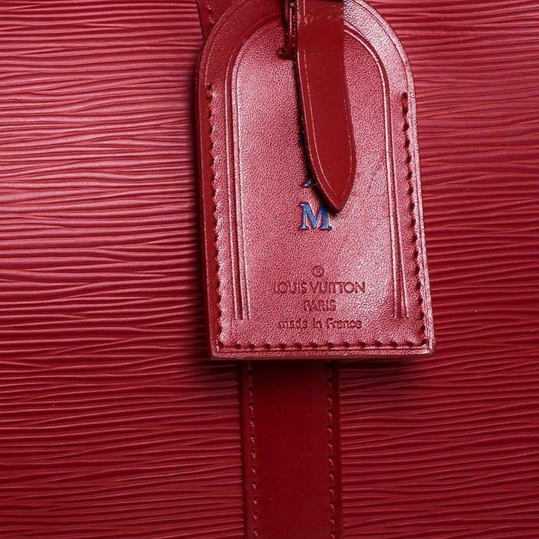 Louis Vuitton Red Epi Leather Keepall Bag 45 Bag For Sale 3