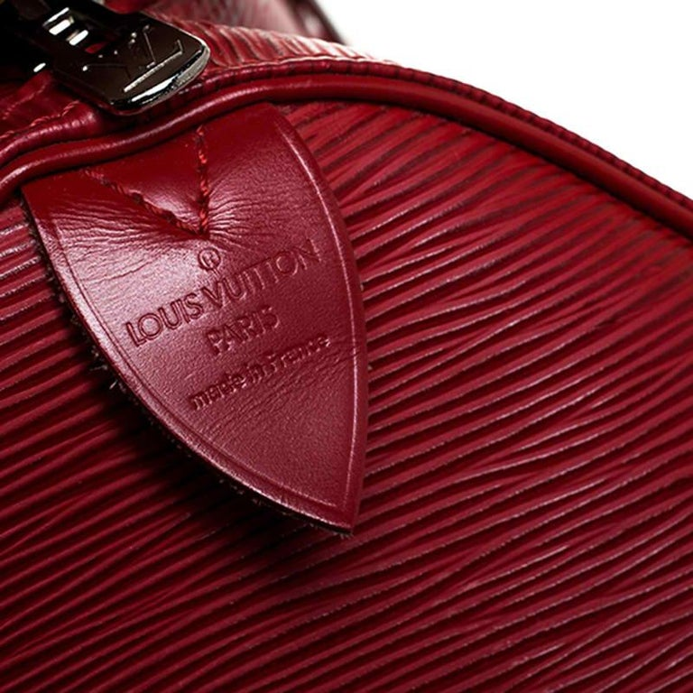 Louis Vuitton Red Epi Leather Keepall Bag 45 Bag For Sale 5