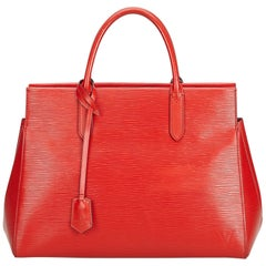 Louis Vuitton Red Epi Leather Leather Epi Marly MM France