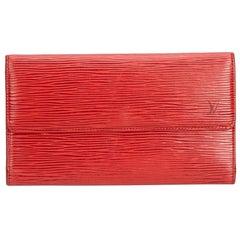 Louis Vuitton Red Epi Leather Leather Epi Porte Tresor International Spain