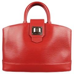 LOUIS VUITTON Red Epi Leather Mirabeau PM Carmine Tote Handbag