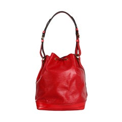 Louis Vuitton Red Epi Leather Noe GM Bucket Bag