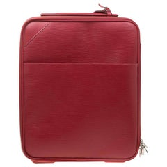 Louis Vuitton Red Epi Leather Pegase 45 Business Luggage