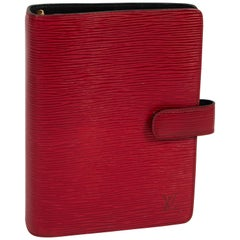 Louis Vuitton Red Epi Leather Planner Cover