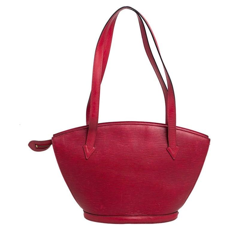 Louis Vuitton Red Epi Leather Saint Jacques PM Bag For Sale 6