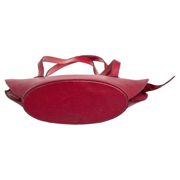 Louis Vuitton Red Epi Leather Saint Jacques PM Bag For Sale 7