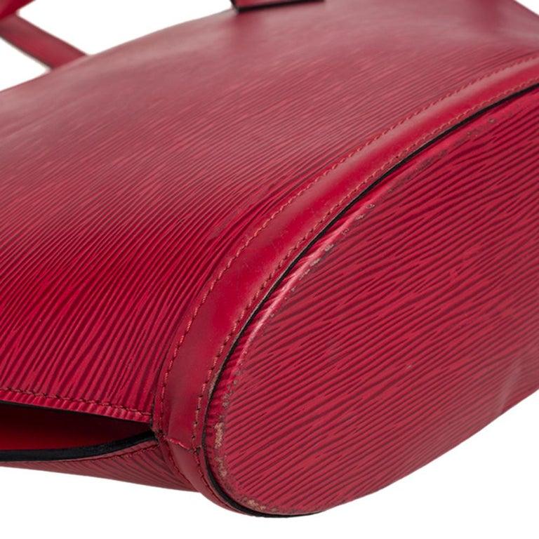 Louis Vuitton Red Epi Leather Saint Jacques PM Bag For Sale 8