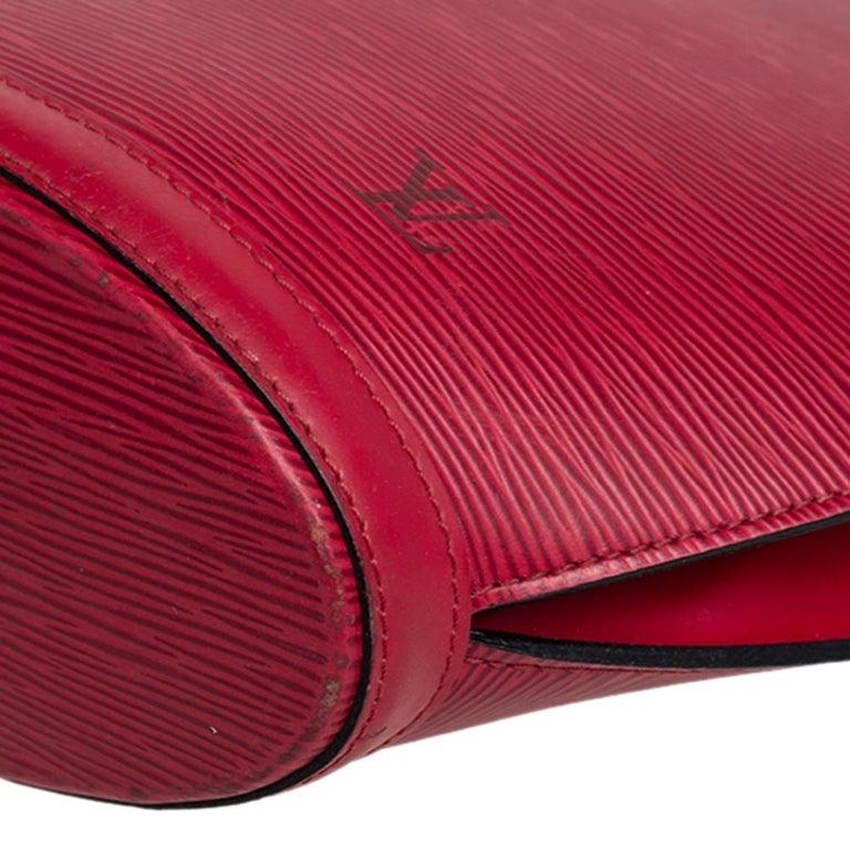 Louis Vuitton Red Epi Leather Saint Jacques PM Bag For Sale 9