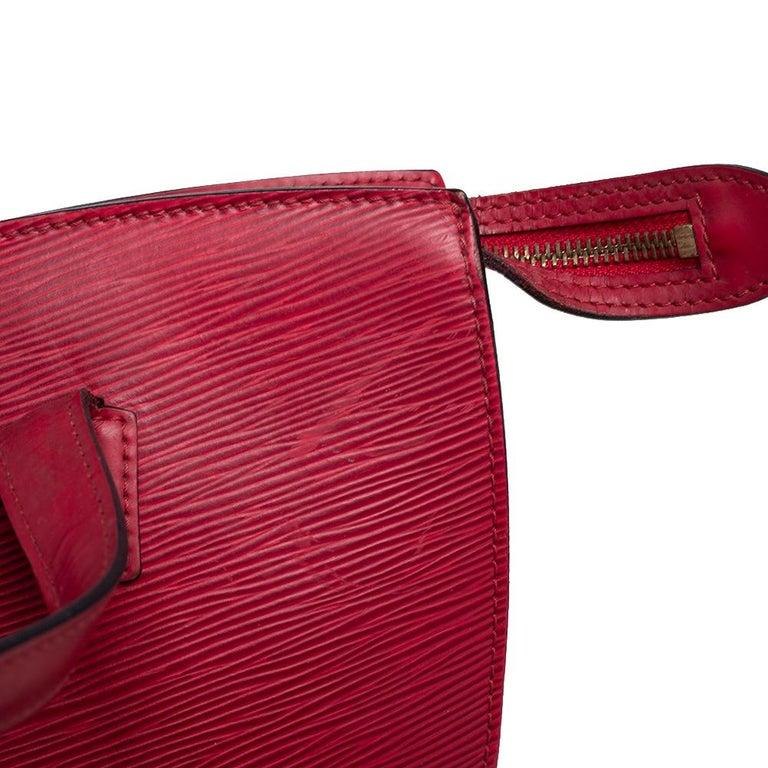 Louis Vuitton Red Epi Leather Saint Jacques PM Bag For Sale 10