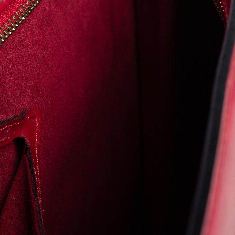 Women's Louis Vuitton Red Epi Leather Saint Jacques PM Bag For Sale