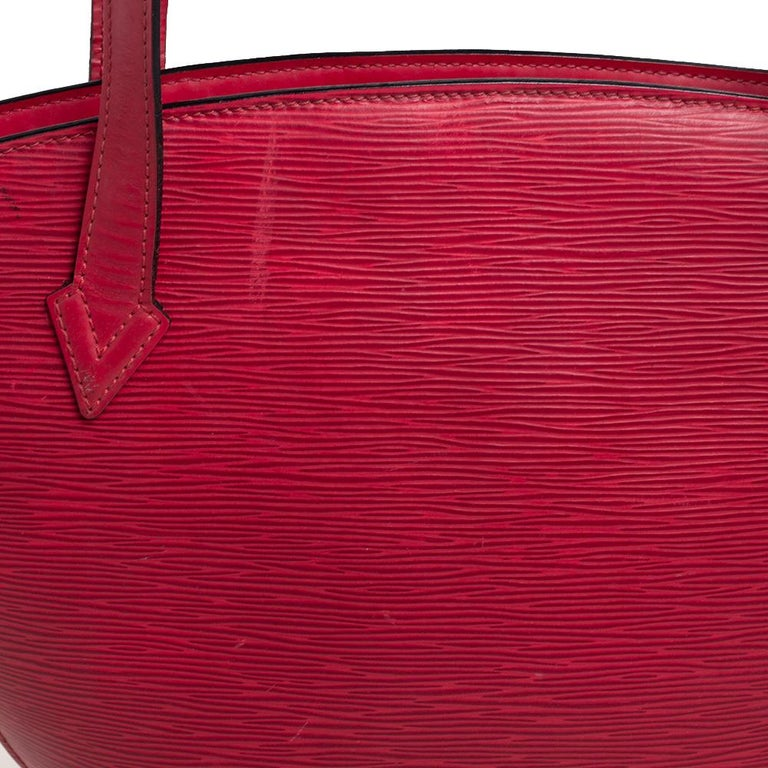 Louis Vuitton Red Epi Leather Saint Jacques PM Bag For Sale 3