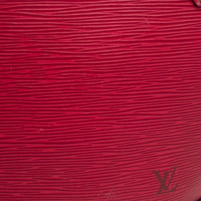 Louis Vuitton Red Epi Leather Saint Jacques PM Bag For Sale 4
