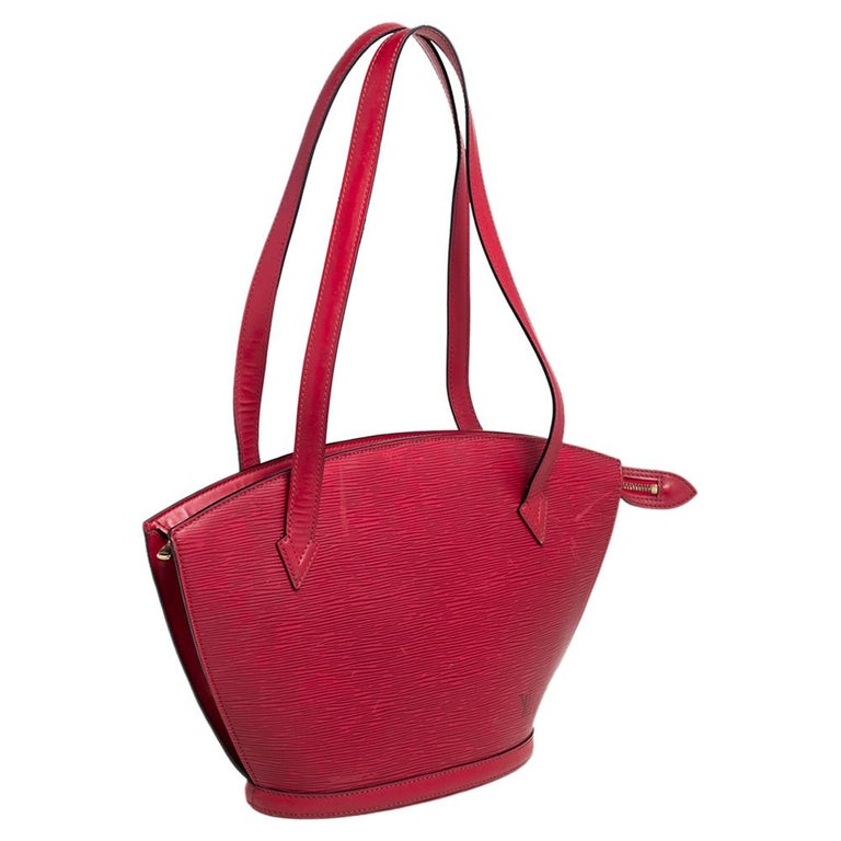 Louis Vuitton Red Epi Leather Saint Jacques PM Bag For Sale 5
