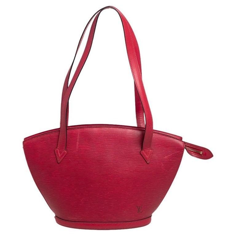 Louis Vuitton Red Epi Leather Saint Jacques PM Bag For Sale