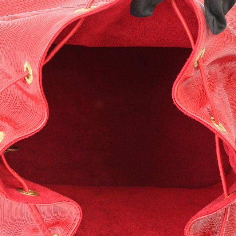 Louis Vuitton Red Epi Leather Vintage Petit Noé For Sale 6