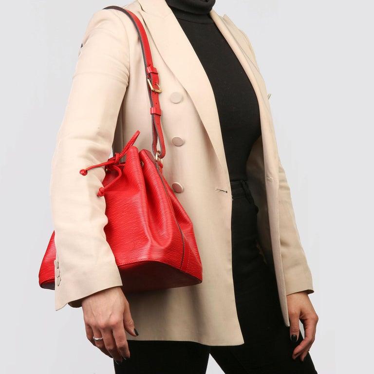 Louis Vuitton Red Epi Leather Vintage Petit Noé For Sale 7