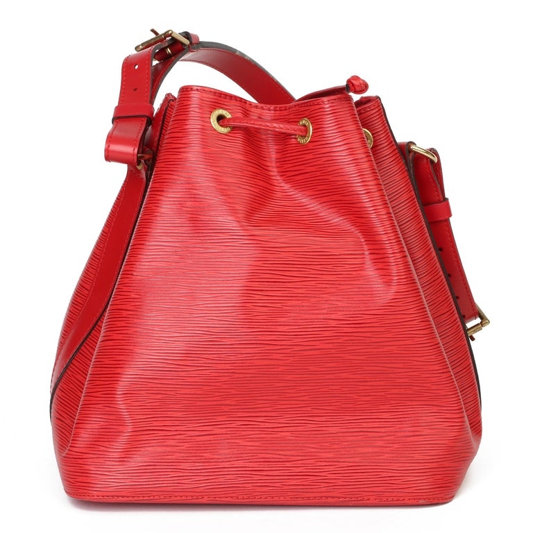 Women's Louis Vuitton Red Epi Leather Vintage Petit Noé For Sale