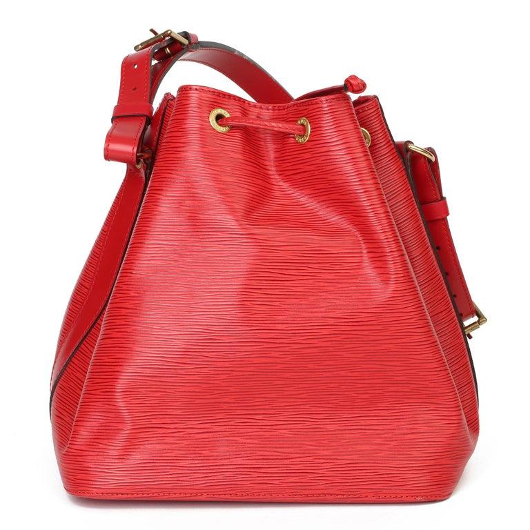 Women's Louis Vuitton Red Epi Leather Vintage Petit Noé