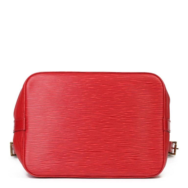 Louis Vuitton Red Epi Leather Vintage Petit Noé For Sale 1