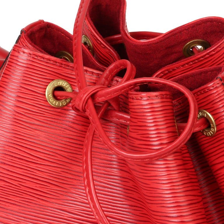 Louis Vuitton Red Epi Leather Vintage Petit Noé For Sale 2